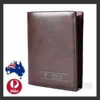 OZ Genuine Hide Mens Purse Billfold Brown Pocketbook Leather Credit Card Wallet