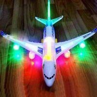 Popular Kids LED Aeroplane Flashing Light Music Toy Airbus Aircraft Plane Toys