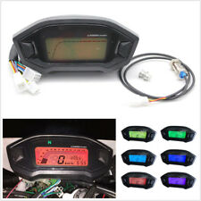 Waterproof 12V Motorcycle Digital Speedometer 7 Color Backlight Speed Sensor N-5