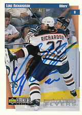 LUKE RICHARDSON OILERS AUTOGRAPH AUTO 97-98 UD COLLECTORS CHOICE #96 *21824