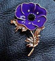 BEAUTIFUL Animals In War Purple Remembrance NEW Poppy Enamel Pin Badge 2019 UK