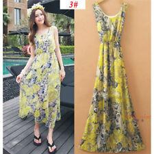 Sexy Women Evening Party Dress Chiffon Dress Summer Beach Dresses -10