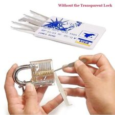 5pcs Lock Pick Practice Tools Hooks Set Padlock Pick Set for Locksmith Training