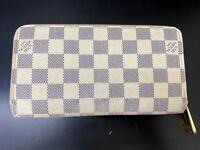 Auth Louis Vuitton Long Zippy Wallet Zippy Damier Azur N60019 France 60022215