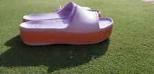 Crocs Crocband Platform Slide Barely Pink Women's Size 10/ Men's 8 NWT