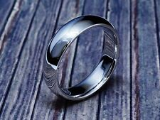 6.00 mm Hand Crafted Smooth Finish White Gold Wedding Band