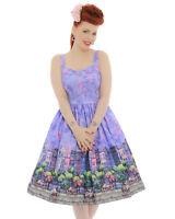 Lindy Bop 'Imelda' Light Purple Paris Swing Lilac Dress 10,12,16,18