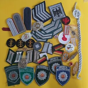Nice   lot of German &DDR   military & police patches & BADGES.