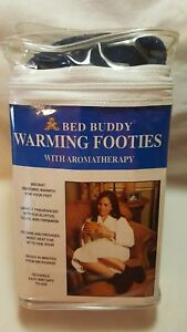 Bed Buddy Warming Reusable Moist Heat  Footies With Aromatherapy BLUE NEW