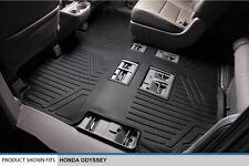 MAXFLOORMAT All Weather Custom Floor Mats Liner Second / Third Row ODYSSEY Black
