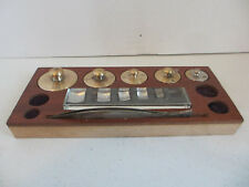 5 Pc Set Of Brass Scale Weights # J