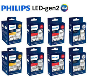 PHILIPS X-treme Ultinon LED Gen2 P21W, P21/5W, W21W W21/5W WY21W RED WHITE AMBER