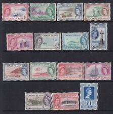 CAYMAN ISLANDS 1953 QEII DEFINITIVE SET MINT (TOP 4 VALUES NEVER HINGED)