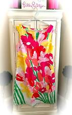 Gorgeous *LILLY PULITZER* BRIGHT FLOWER SHIFT DRESS! Pink~Green~White~Red! 8 EUC