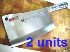 2 Units of Quality Heavy Chopping Knives - marked Japanese steel - Fast Shipping