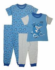 Pajama R Us Boys S/S Shark 4pc Pajama Pant Set Size 2T
