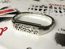 SILVER METAL BAND per Fitbit Flex 2 attività Tracker Bracciale Bangle gioielli