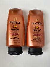 Lot of 2 Pantene Pro V Truly Natural Hair Curl Defining Conditioner 17.7fl oz ea