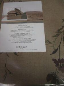 New Calvin Klein Egyptian Sateen Prairie Floral Duvet Cover - Queen