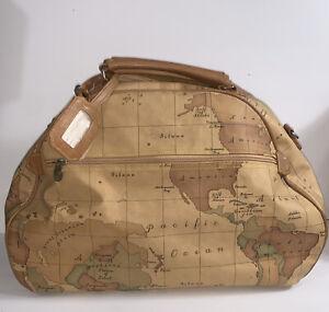Vtg GITANO Large Map Novelty Travel Duffel Bag Weekender Tote Only One On EBay!