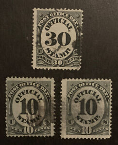 TDStamps: US Official Stamps Scott#O51 (2) O55 Used