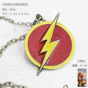 Pendentif Flash Keychain Barry Allen The Arrow Dc Comics Logo Necklace Chaîne #1