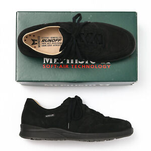 Mephisto Rebeca Black Nubuck Perforated Sneakers - Womens 11 M
