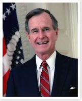 President George H. W. Bush 1989 Official Portrait 8 x 10 Silver Halide Photo