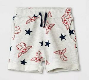 NWT Star Wars Toddler Boys Baby Yoda Mandalorian Gray Pajama Shorts Size 5T