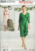 Dresses Misses size 14-22 Simplicity 8534 Sewing Pattern