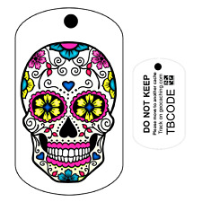 Sugar Skull (Travel Bug) For Geocaching - Trackable Tag - Unactivated