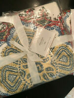Pottery Barn Set of 2 Adina King Shams NEW Quilted