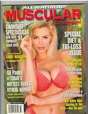 MUSCULAR DEVELOPMENT muscle SWIMSUIT magazine/CINDY MARGOLIS w/poster 3-97