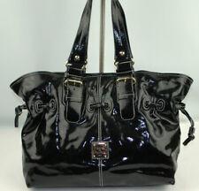Dooney & Bourke Chiara Large Black Patent Leather Tote Purse handbag