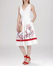 Beautiful Karen Millen Ivory Appliqué Dress UK 14