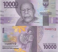 INDONESIA 10000 Rupiah Banknote World Paper Money UNC Currency Pick p-NEW 2016