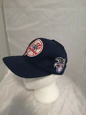 Vintage 90's Logo 7 New York Yankees Stitched Logo Snapback Hat