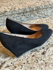 NEW Women's Shoes Dot Round Toe Wedge Pumps by A New Day Size 8 Black