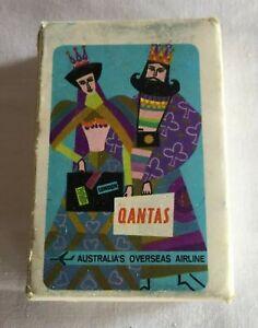 Vintage Rare Qantas Airlines mini playing cards
