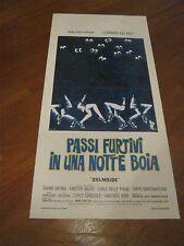 LOCANDINA, S/5,PASSI FURTIVI IN UNA NOTTE BOIA 1976 CHIARI, CARMEN VILLANI RIGO