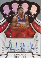 2019-20 Crown Royale Crown Rookie Autographs Red #7 Admiral Schofield Auto /49