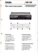 Service Manual-Anleitung für Saba Ultra HiFi 9141