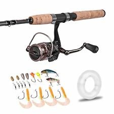 7' Spinning Graphite Fishing Rod 2 Pieces Saltwater Rod&Reel Combo Gear Medium
