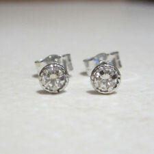Brand New Halo 1/5CT Diamond 9ct White Gold Stud Earrings £115 Freepost