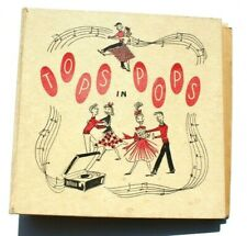 Vintage Tops In Pops 45 RPM Records & Album Storage Book Binder