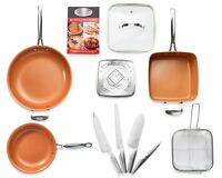 Gotham Steel 11 Piece Nonstick Cookware & Cutlery, Kitchen in a Box Set - New!
