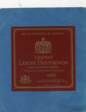 HAUT MEDOC CRU BOURGEOIS ETIQUETTE CHATEAU LAROSE TRINTAUDON 1973 RARE§10/08§