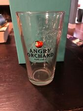 New listing Angry Orchard Hard Cider 3D Raised Tree Pint Glass Etched Apple on Bottom