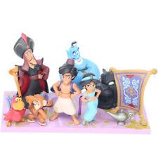 8pcs/Set cartoon Aladdin Genie Jasmine Kid Toy Gift Cake Topper Toppers