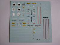 F1 DECALS KIT FERRARI 312 T2 F1 1977 CAMPIONE DEL MONDO DECALS LAUDA REGAZZONI